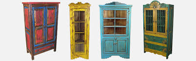 painted wood cabinets armoires and