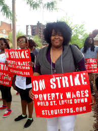 stl can t survive on 7 35 campaign continues rally for change kenta jackson a shift leader at church s chicken ed in solidarity the campaign she makes 8 50 an hour and says she doesn t receive additional