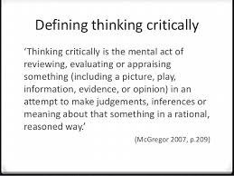 Critical and Creative Thinking on openlearning com TYPES OF THINKING Creative Thinking     fresh perspectives and ideas