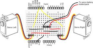 servo motor wiring arduino servo image wiring diagram operating two servos the arduino on servo motor wiring arduino