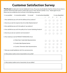 Sample Questionnaire Format For Survey Service Questionnaire Template Customer Free Satisfaction