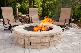 rosetta round outdoor fire pit kit in astounding circular outdoor fireplace design ideas