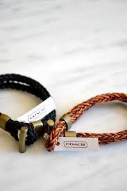 coach philip crangi double braid toggle bracelet