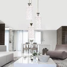 get ations creative led chandelier modern minimalist round glass lamp shade chandelier living room lights restaurant bar table