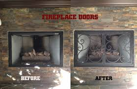 fireplace doors wrought iron. Before-after-fireplace-doors-artistic-iron-works-lv Fireplace Doors Wrought Iron N