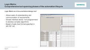 Siemens New Process Interlock Tool Pcs 7 Logic Matrix Ppt