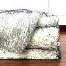 furry rug living room fake fur good large faux white n fleece accent pelt black sheepskin