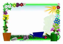 Small Picture Flowers and Plants editable A4 page borders SparkleBox