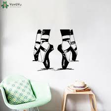 <b>YOYOYU Wall Decal</b> Ballet Dancer Pointes Pointe Shoes Wall ...