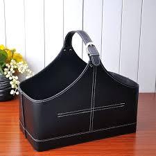 leather storage basket quality imitation leather storage basket gift basket gift packaging miscellaneously gift portable basket leather storage