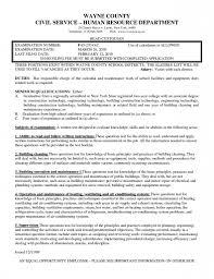 Custodian Duties For Resume Samples Custodial Maintenance Objective