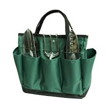 babimax outdoor multi pocket gardening tote tool kit holder oxford bag with 8 pouches tools not included co uk diy tools