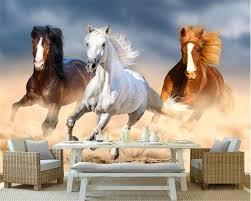 Beibehang Moderne Droom Behang Dier Olieverf Running Paard Paard