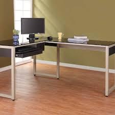 Slim Computer Desk Black Wooden Long Computer Desk In A Modern Design Bedroom