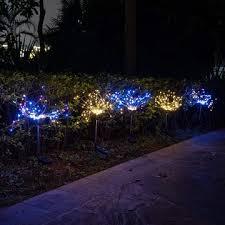 decorative outdoor solar stake garden