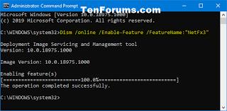 install net framework 3 5 in windows