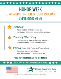 honor flight fundraiser flyer