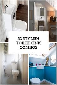 Sink And Toilet Combo 32 Stylish Toilet Sink Combos For Small Bathrooms Digsdigs