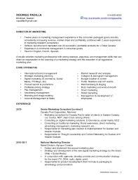 Resume of a brand manager