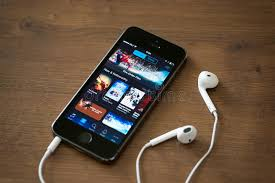 Itunes Music Charts On Apple Iphone 5s Editorial Stock Photo