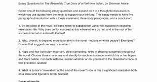 The Absolutely True Diary Of A Part Time Indian Essay Infoletterco Beauteous The Absolutely True Diary Of A Part Time Indian Quotes