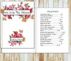 Wedding Detail Checklist Amazon Com Personalized Wedding Planner Handmade