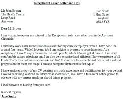 Dental Receptionist Cover Letter Cover Letter Sample For Receptionist Bezholesterol