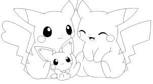 pokemon pikachu coloring pages free go to print flowers