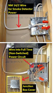 how to install a hardwired smoke alarm ac power and alarm wiring smoke alarm ac power feed branch circuit wiring