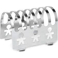 alessi girotondo toast rack in mirror polished 18 10 snless steel akk45