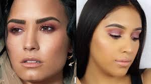 demi lovato dewy latina magazine cover makeup tutorial