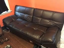 Dark Brown Leather Sofa Bed Furniture in Olympia WA OfferUp