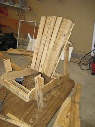 adirondack chairs out of pallets.  Out Attach The Remaining Back Slats Forming Adirondack Chair To Chairs Out Of Pallets