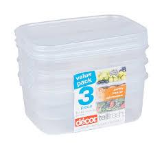 Decor Tellfresh 1l Oblong Storer 3 Pack Kitchn
