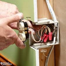 installing an electrical outlet anywhere building and fold wires into the box