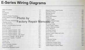 2005 ford econoline van wagon e150 e250 e350 e450 electrical wiring diagrams ford 2005 e series table of contents