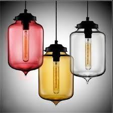 modern art deco hanging colorful glass e27 bulb pendant lamp with led lights cord for restaurant living room kitchen bar hq826 6 glass pendant light pendant