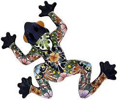 talavera frog on talavera style wall art with authentic mexican talavera wall art