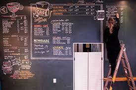 she is a very detailed artist which is evident from her wall art and other artwork examples the above shown wall art for rause caf  on cafe wall artwork with 24 food industry wall artists designmantic the design shop