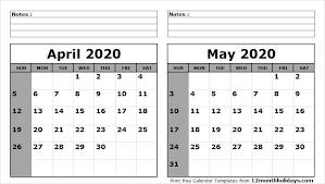 Calendar May 2020 April May 2020 Calendar Printable Calendar 2019