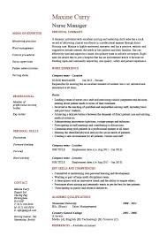 Sample Nurse Manager Resumes Nurse Manager Resume Cv Job Description Example Sample Nursing