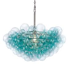 turquoise chandelier lighting. Regina Andrew Design Lighting Bubbles Chandelier - Aqua Turquoise