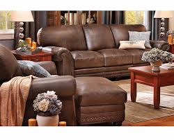 Carson Full Grain Leather Sofa Group Traditional Denver by