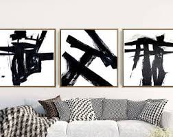 ingenious idea black and white abstract wall art home decorating ideas triptych set of 3 prints on black white wall art with stunning design black and white abstract wall art interior designing
