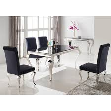 black and chrome furniture. Louis 160cm Black And Chrome Dining Table Only Furniture E
