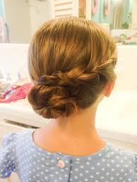 Childrens Hairstyles Kids Up Do Blond Hair Braided Up Do Blond