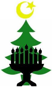 Christmas Tree, Menorah, Star and Crescent