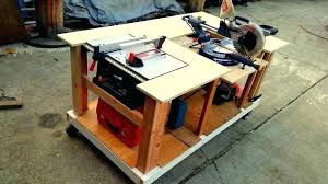 diy table saw table miter saw table picture of mobile workbench with built in table miter saws miter miter saw table diy table saw table fence