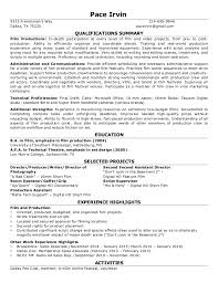 Volunteer Experience On Resume Amazing 242424 IRVIN JOHN PACE Film Resume R 24