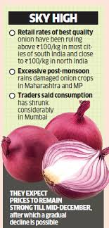 Onion Price Chart India Onion Wholesale Onion Prices Hit Rs 100 Kg The Economic Times